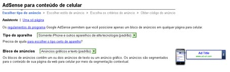 Google Adsense Celular