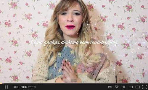 Vídeo Taciele Alcolea - como ganhar dinheiro com o YouTube